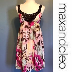 MAX and CLEO floral print lined sundress
